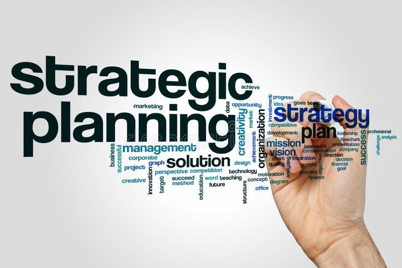 Nuage de mot de planification stratégique stratégique image libre de droits