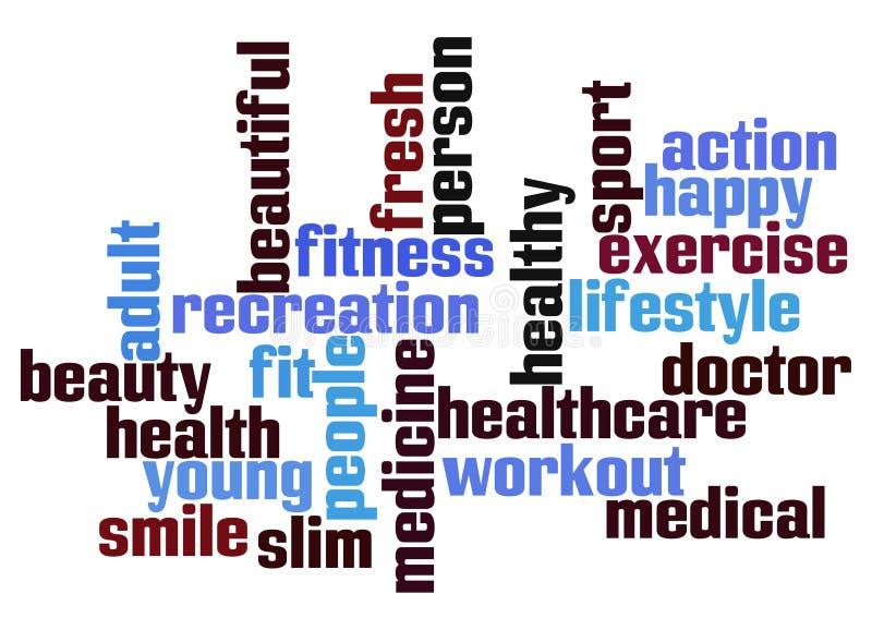 Nuage de mot de santé illustration libre de droits