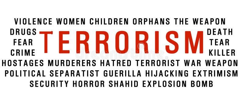 Nuage de mot de terrorisme illustration stock
