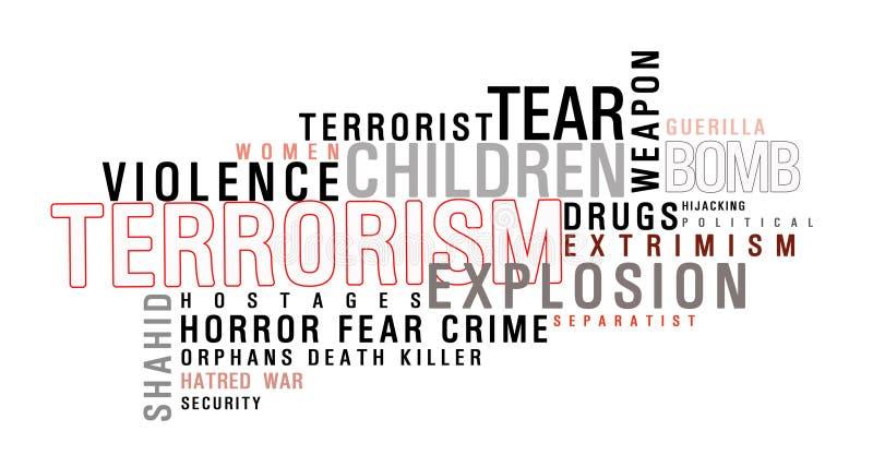 Nuage de mot de terrorisme illustration de vecteur