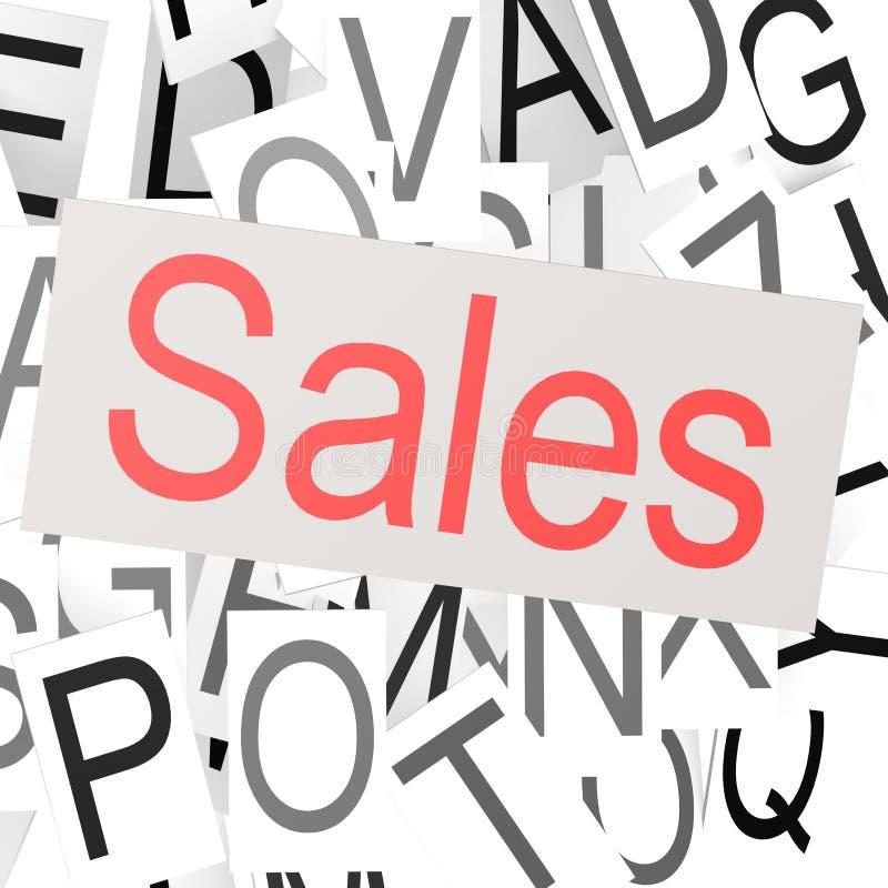 Nuage de mot de ventes illustration libre de droits