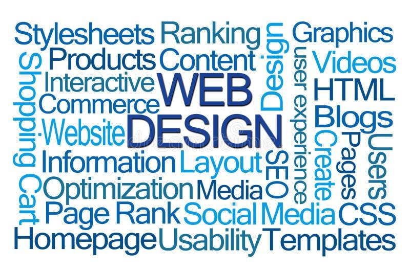 Nuage de mot de web design photo libre de droits