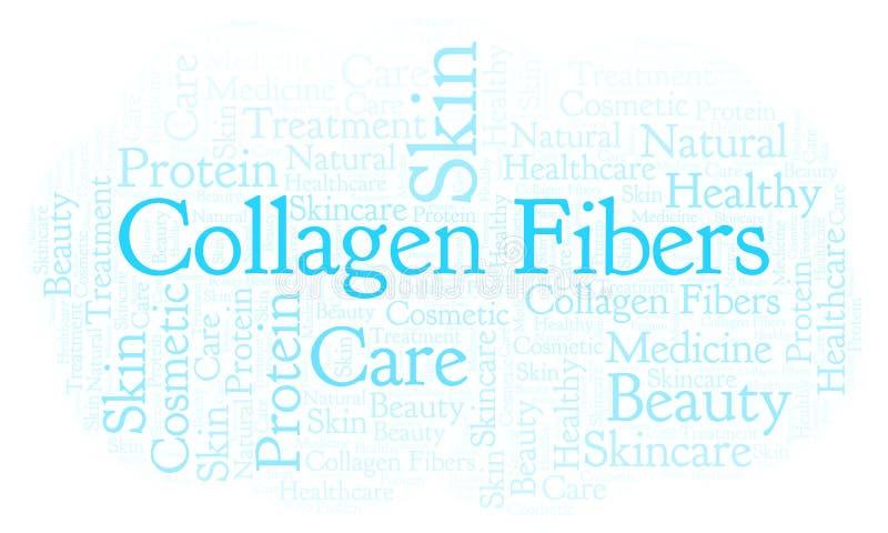 Nuage de mot de fibres de collagène illustration stock