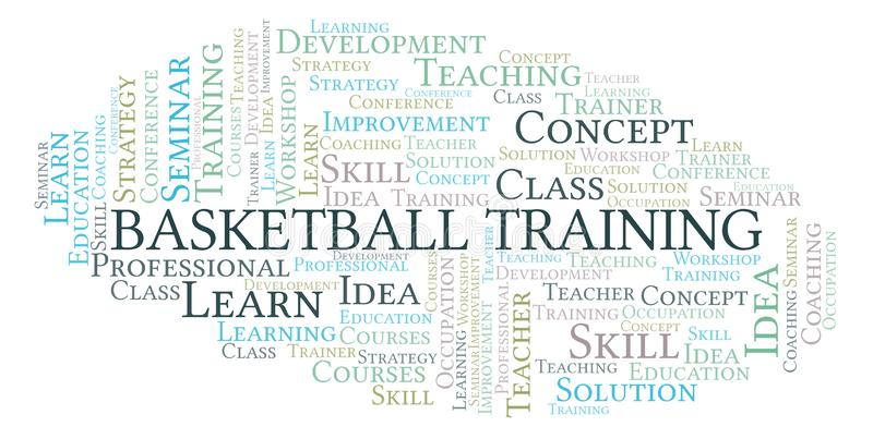 Nuage de mot de formation de basket-ball illustration libre de droits