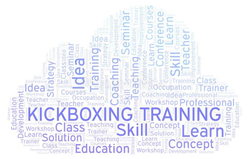 Nuage de mot de formation de Kickboxing illustration stock