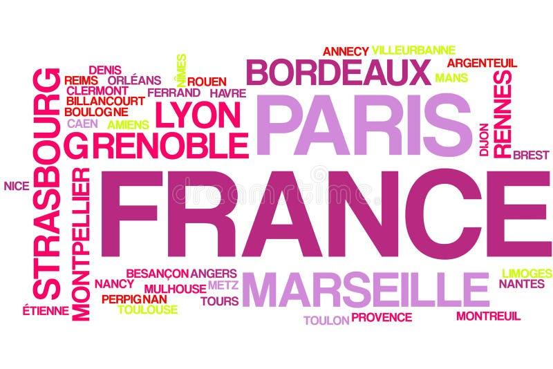Nuage de mot de Frances illustration libre de droits