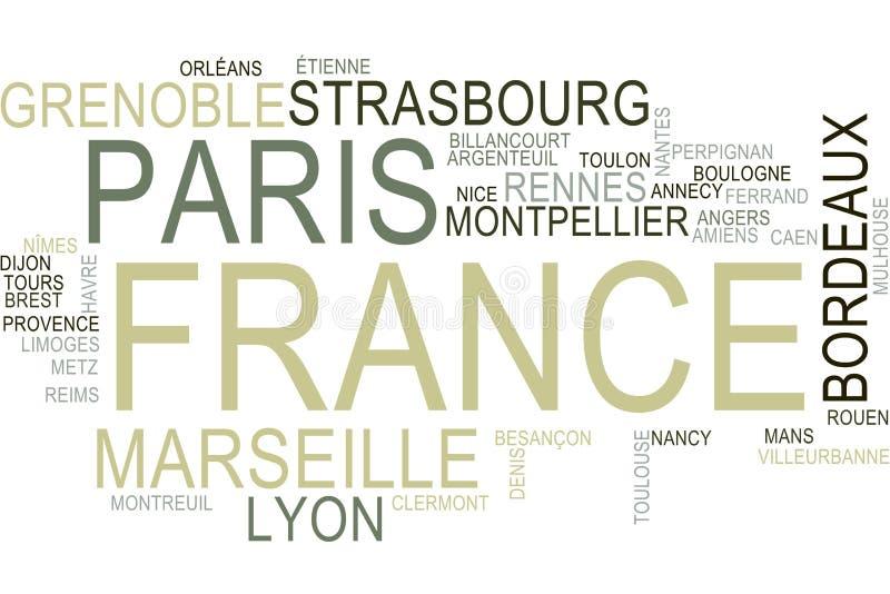 Nuage de mot de Frances illustration stock