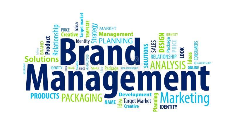 Nuage de mot de gestion de marque illustration de vecteur