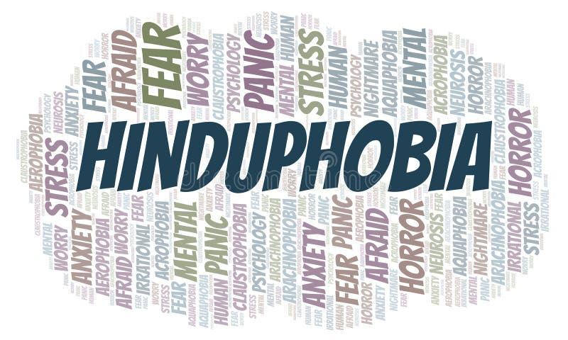 Nuage de mot de Hinduphobia illustration de vecteur