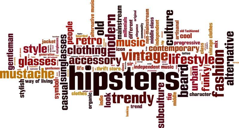 Nuage de mot de hippies illustration libre de droits