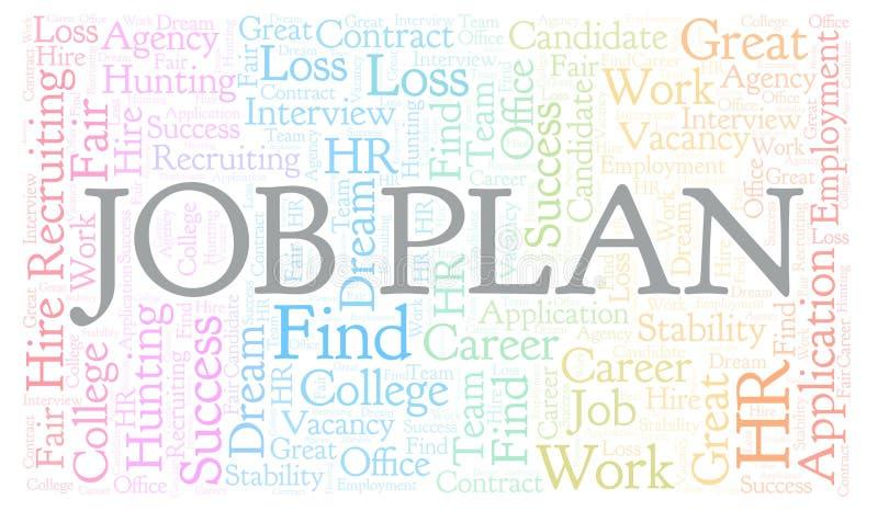 Nuage de mot de Job Plan illustration libre de droits
