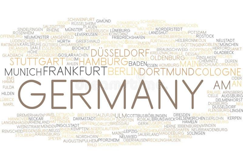 Nuage de mot de l'Allemagne illustration stock