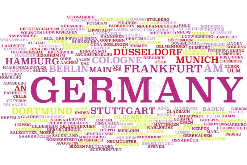 Nuage de mot de l'Allemagne illustration libre de droits