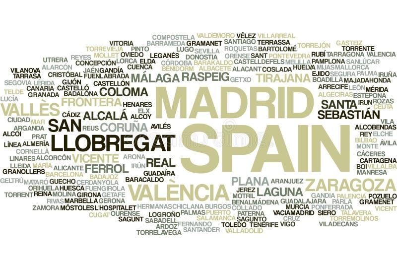 Nuage de mot de l'Espagne illustration de vecteur
