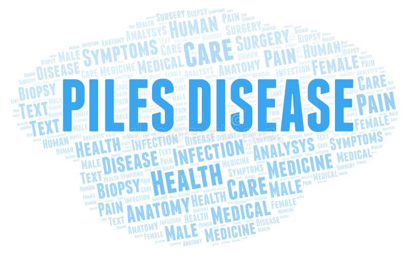 Nuage de mot de la maladie de piles illustration stock