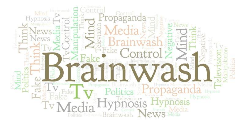 Nuage de mot de lavage de cerveau illustration libre de droits