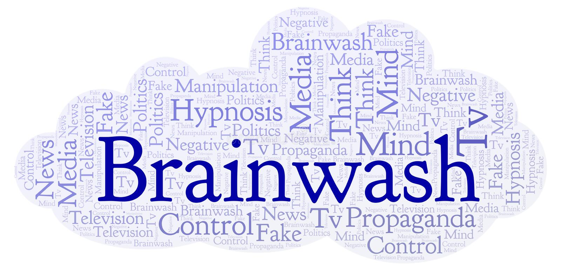 Nuage de mot de lavage de cerveau illustration stock