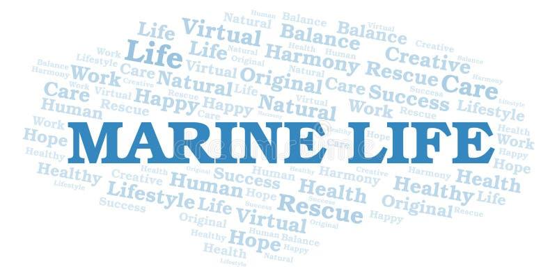 Nuage de mot de Marine Life illustration de vecteur