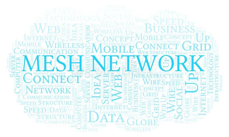 Nuage de mot de Mesh Network illustration stock