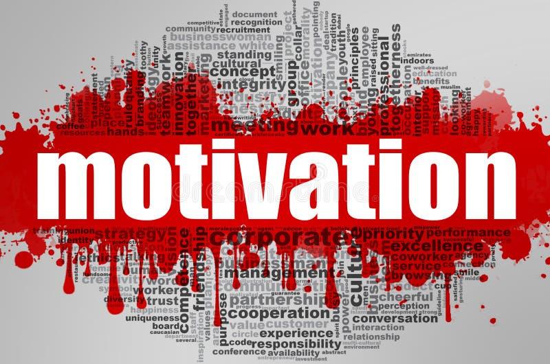 Nuage de mot de motivation illustration libre de droits