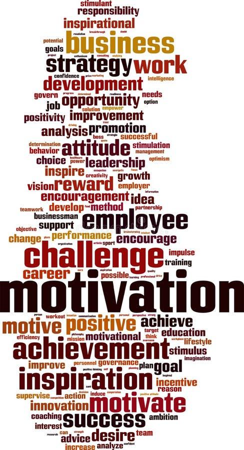 Nuage de mot de motivation illustration stock