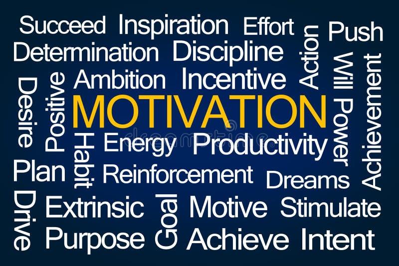 Nuage de mot de motivation illustration de vecteur