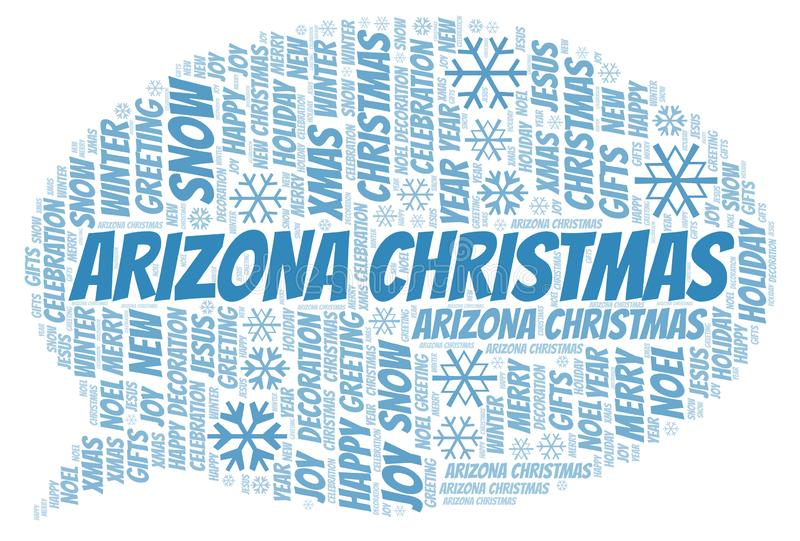 Nuage de mot de Noël de l'Arizona illustration libre de droits