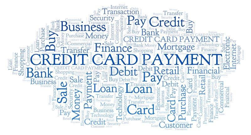 Nuage de mot de paiement par carte de crédit illustration libre de droits