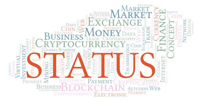 Nuage de mot de pièce de monnaie de cryptocurrency de statut illustration libre de droits