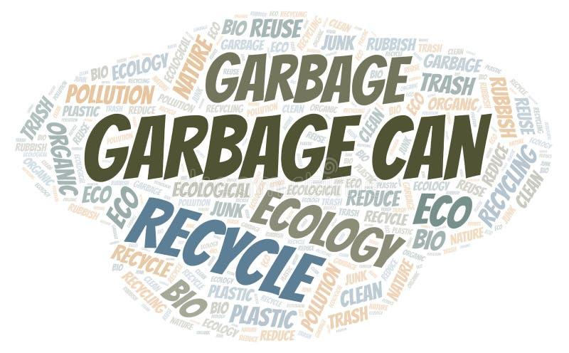 Nuage de mot de poubelle illustration de vecteur