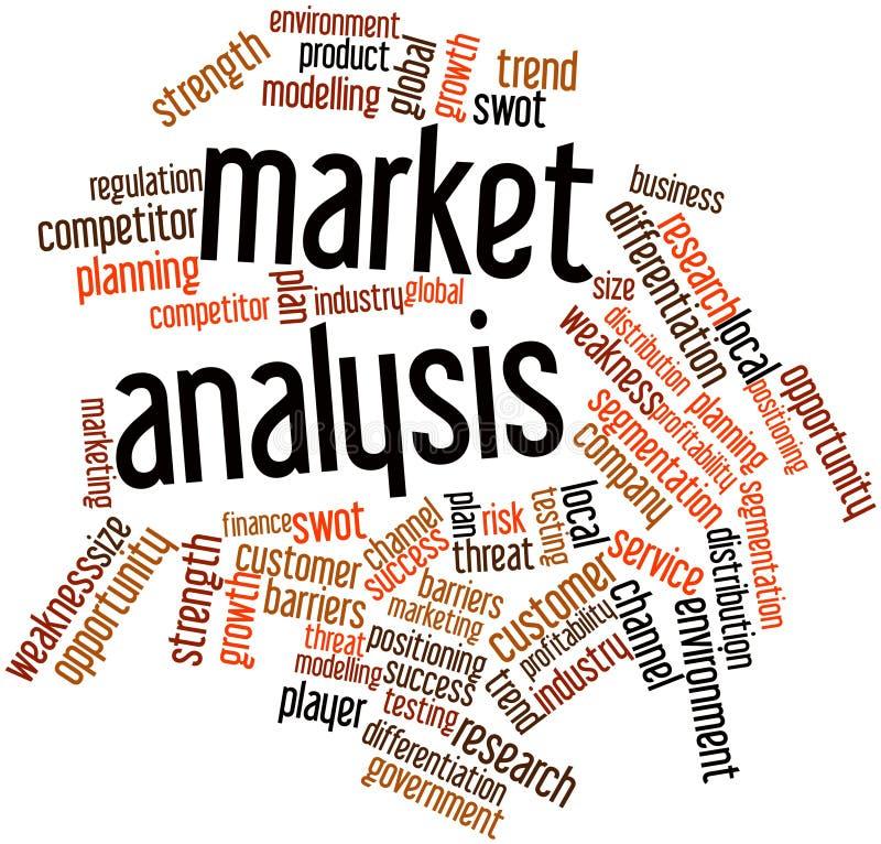Nuage de mot pour l'analyse des marchés illustration stock