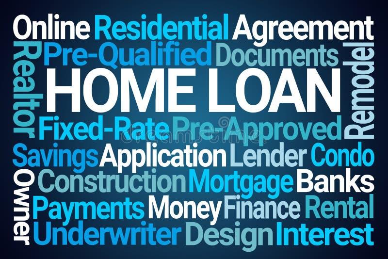 Nuage de mot de prêt immobilier illustration libre de droits