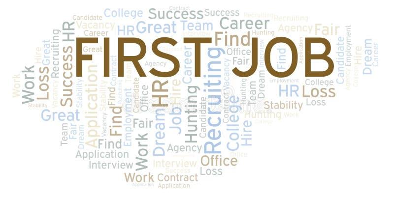 Nuage de mot de premier emploi illustration libre de droits
