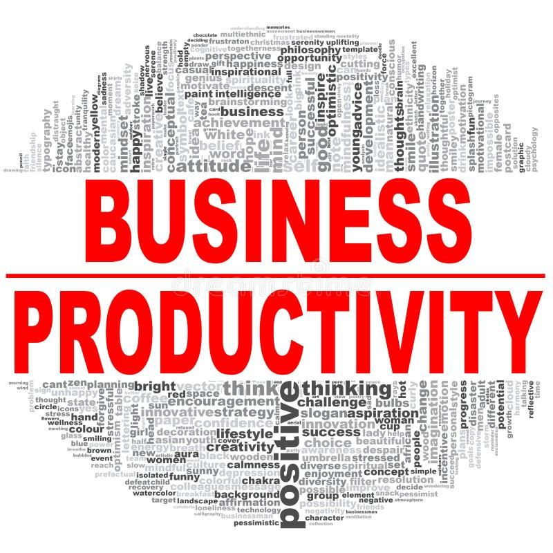 Nuage de mot de productivité d'affaires illustration libre de droits