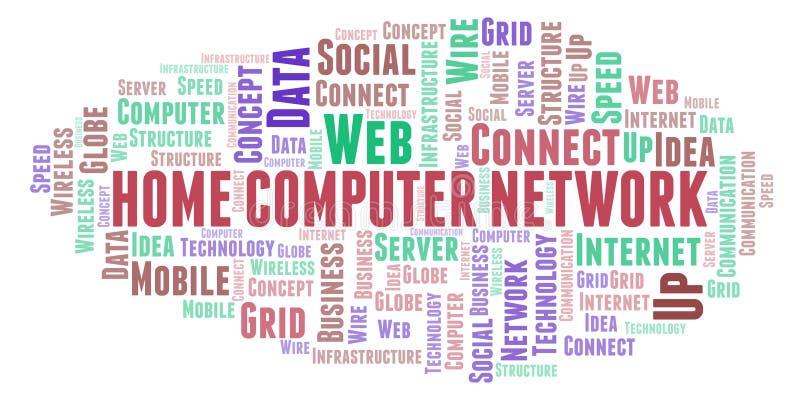 Nuage de mot de réseau d'ordinateur personnel illustration stock