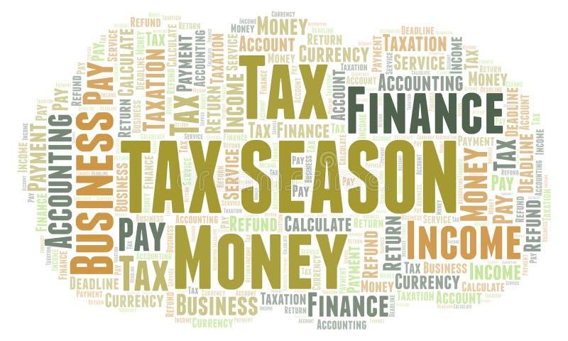 Nuage de mot de saison d'impôts illustration libre de droits