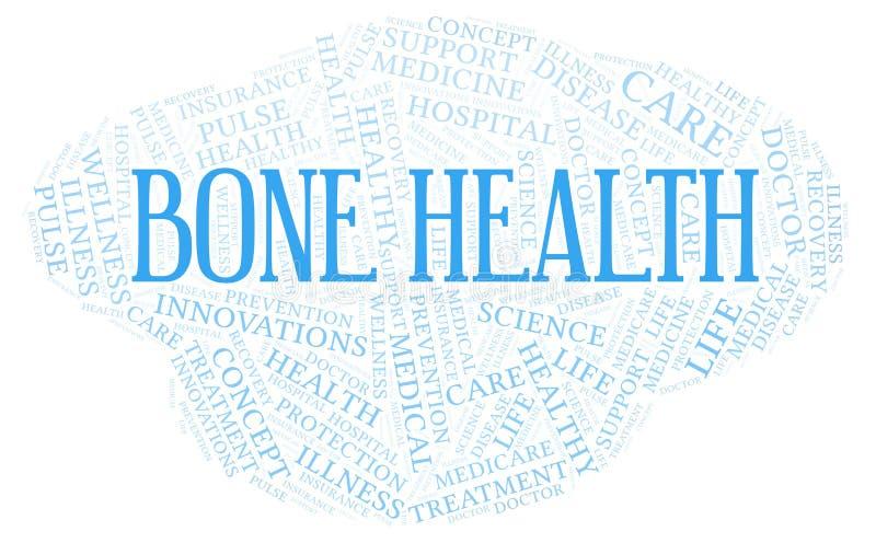 Nuage de mot de santé d'os illustration de vecteur