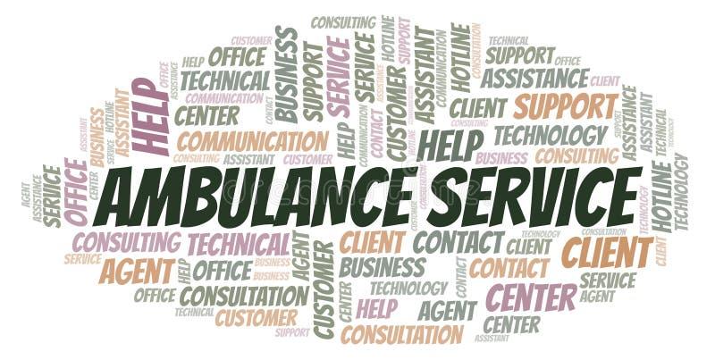 Nuage de mot de service d'ambulance illustration libre de droits
