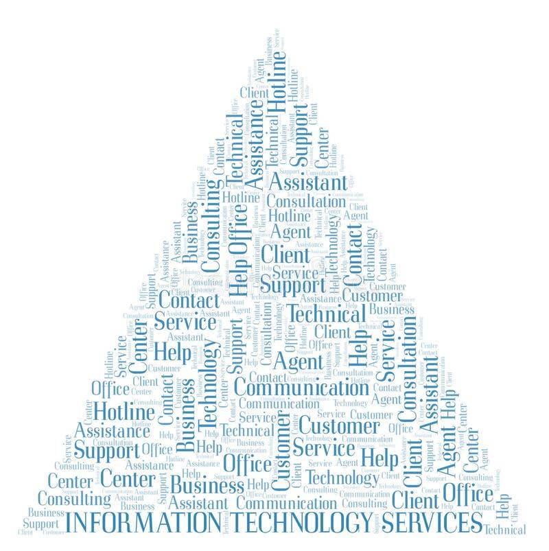 Nuage de mot de services de technologie de l'information illustration libre de droits