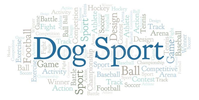 Nuage de mot de sport de chien illustration stock
