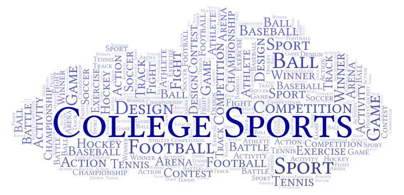 Nuage de mot de sports d'université illustration de vecteur