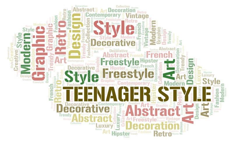 Nuage de mot de style d'adolescent illustration de vecteur