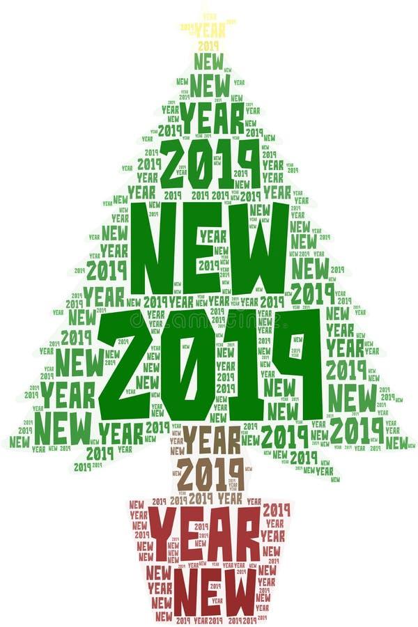 Nuage de mot de thème de nouvelle année images stock