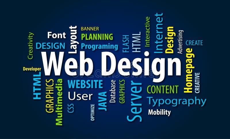 Nuage de mot de web design illustration libre de droits