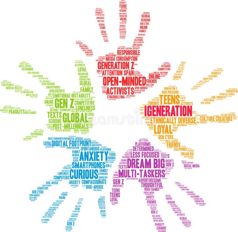 Nuage de mots IGeneration illustration de vecteur