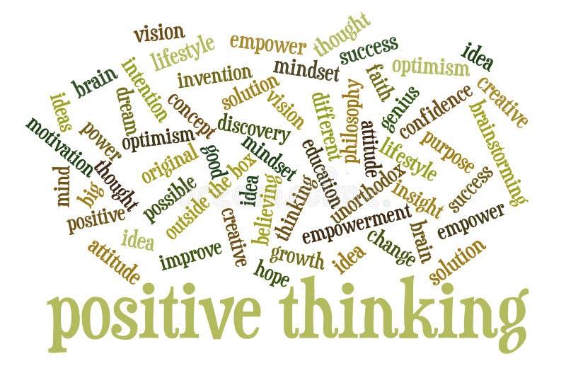 Nuage de pensée positif de mot illustration libre de droits