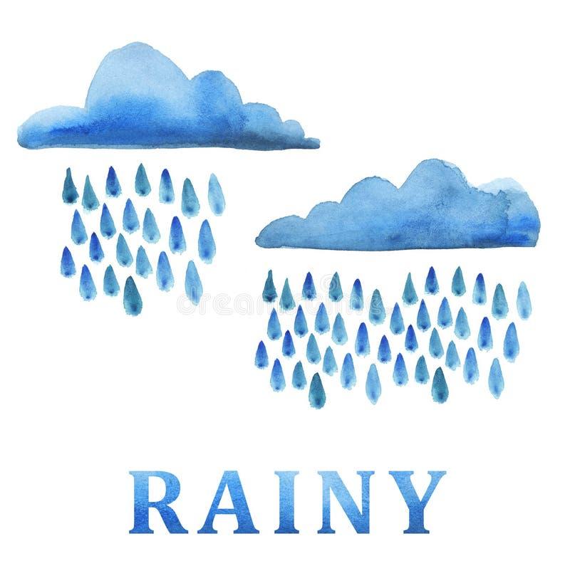 Nuage de pluie illustration libre de droits