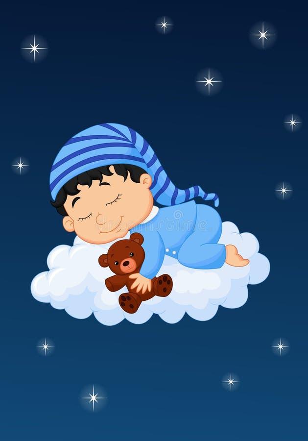 Nuage de sommeil de bébé illustration de vecteur