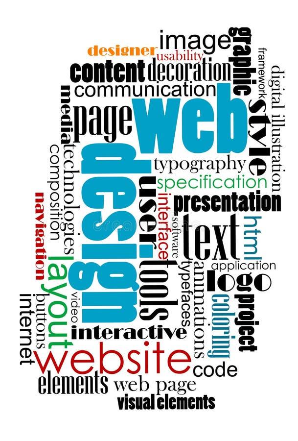Nuage de tags pour la conception de Web et d'Internet illustration de vecteur