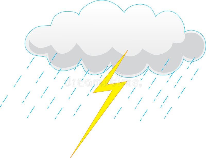 Nuage de tempête illustration libre de droits